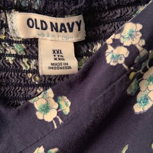 Old Navy Dresses - Navy blue floral dress